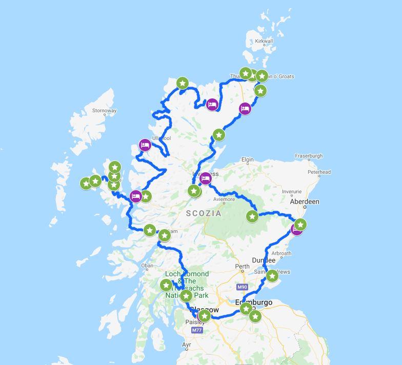 Tour in auto della Scozia di due settimane