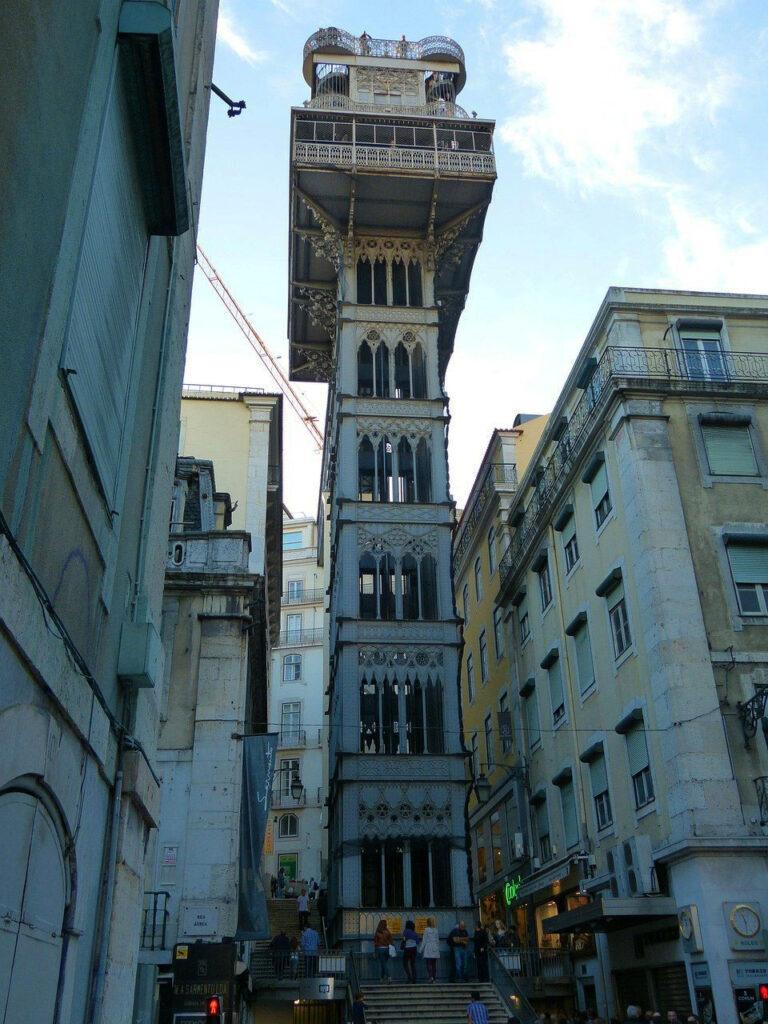 Cosa vedere a Lisbona in un weekend: Ascensore di Santa Giusta